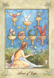 "The Seven of Cups from <a target=""_blank"" href=""https://www.amazon.com/gp/product/0738702994/ref=as_li_tl?ie=UTF8&camp=1789&creative=9325&creativeASIN=0738702994&linkCode=as2&tag=bohem04-20&linkId=3b22303668986d40b3cd27499f225005"">The Llewellyn Tarot</a><img src=""//ir-na.amazon-adsystem.com/e/ir?t=bohem04-20&l=am2&o=1&a=0738702994"" width=""1"" height=""1"" border=""0"" alt="""" style=""border:none !important; margin:0px !important;"" /> at www.BohemianPathTarot.wordpress.com"