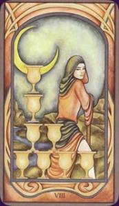 The Eight of Cups from the Fenestra Tarot