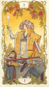 The Magician from Mucha Tarot