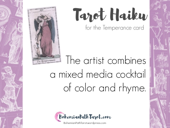 Haiku for the Temperance Tarot card