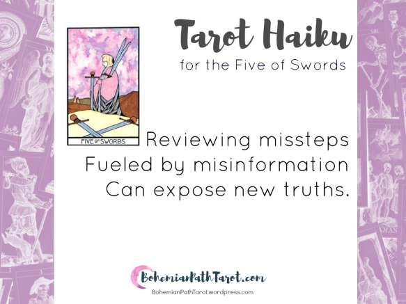 Haiku for the Five of Swords by BohemianPathTarot.com